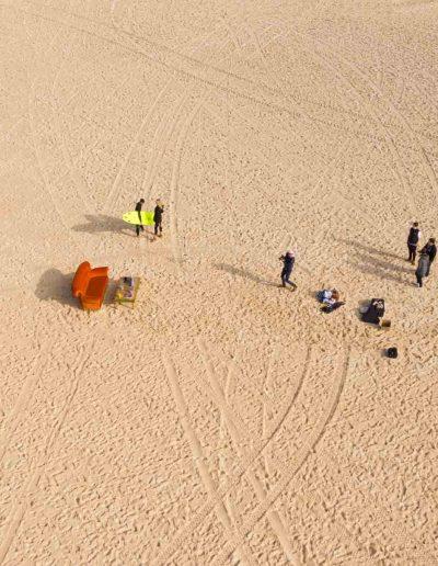 Visionair Media filming corporate video on Bondi Beach