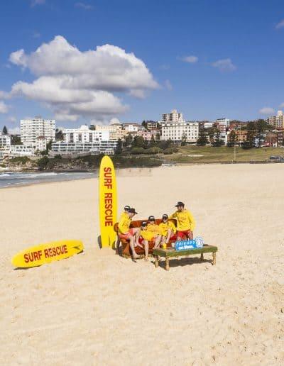 Drone photography at Bondi Beach