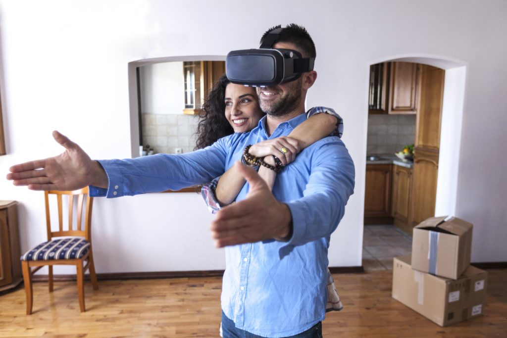 using virtual reality headset for real estate