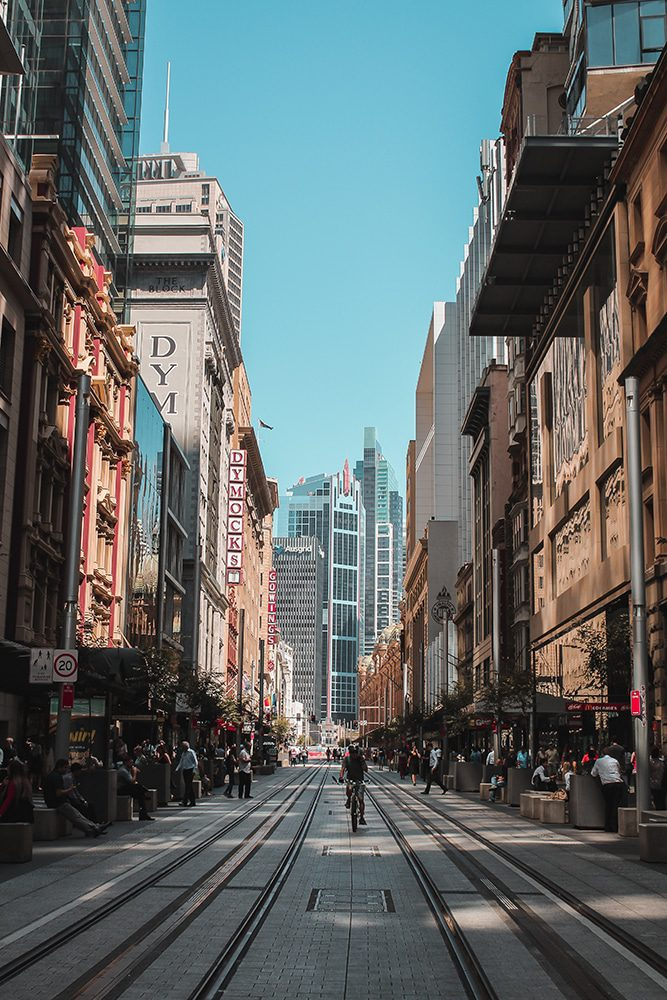 City street that offers a unique perspective for a Sydney video marketing campaign.