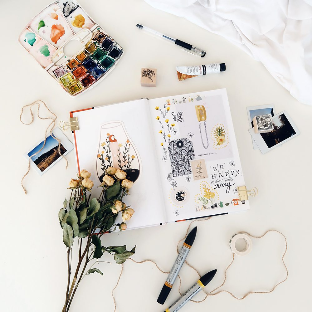 Develop your ideas by sketching or putting together a mood board.