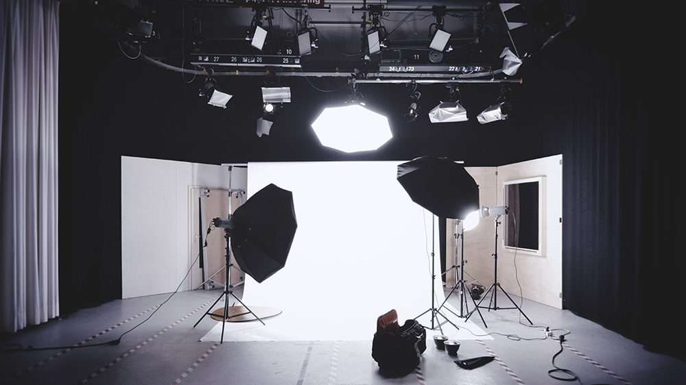 Using a studio to create your video will produce professional results.