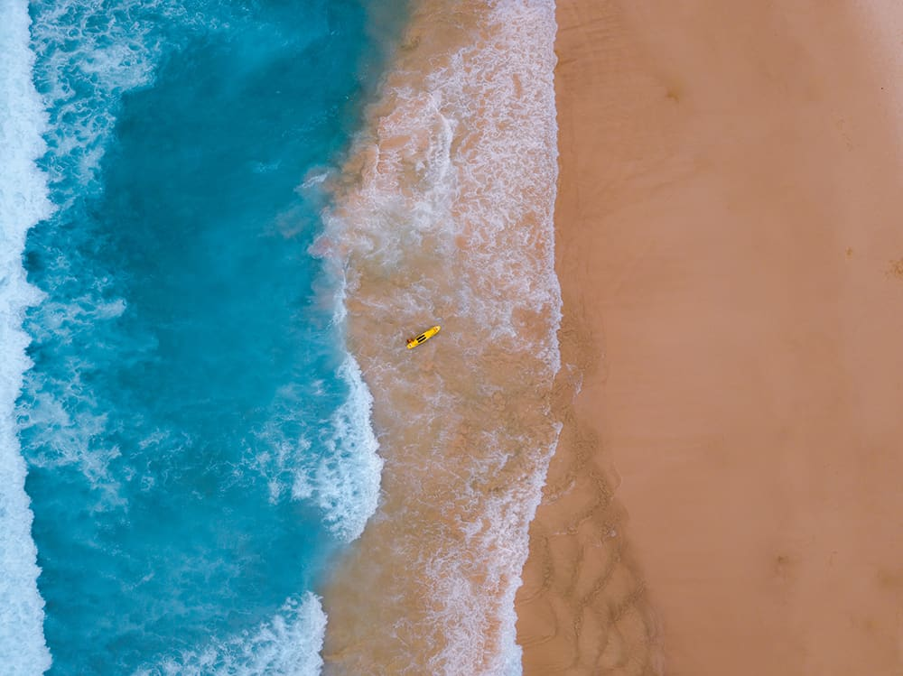Consider aerial videography of Bondi or Manly beach