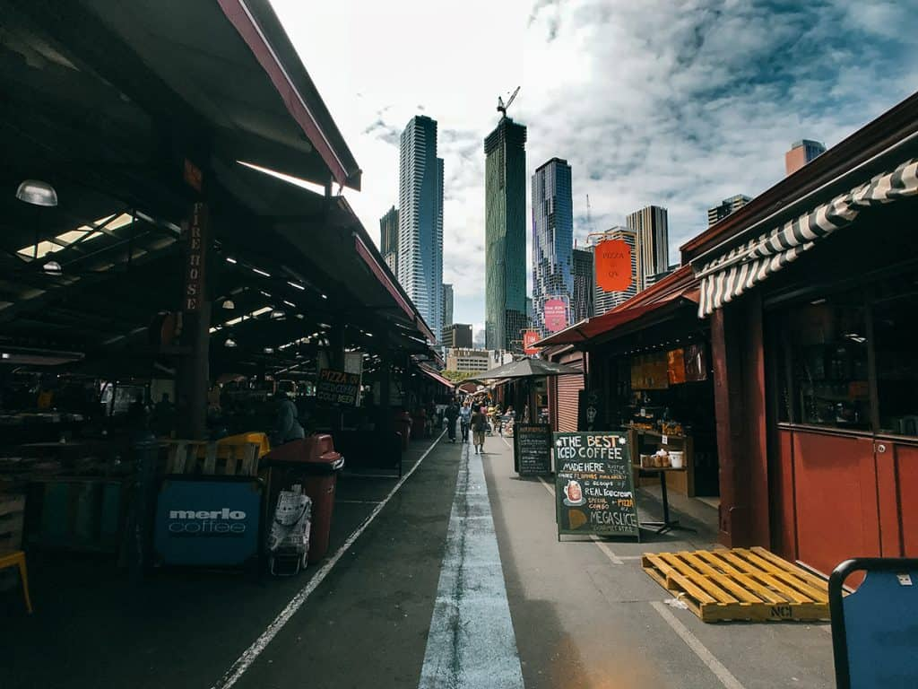 The Queen Victoria markets host a spectacular view of Melbourne