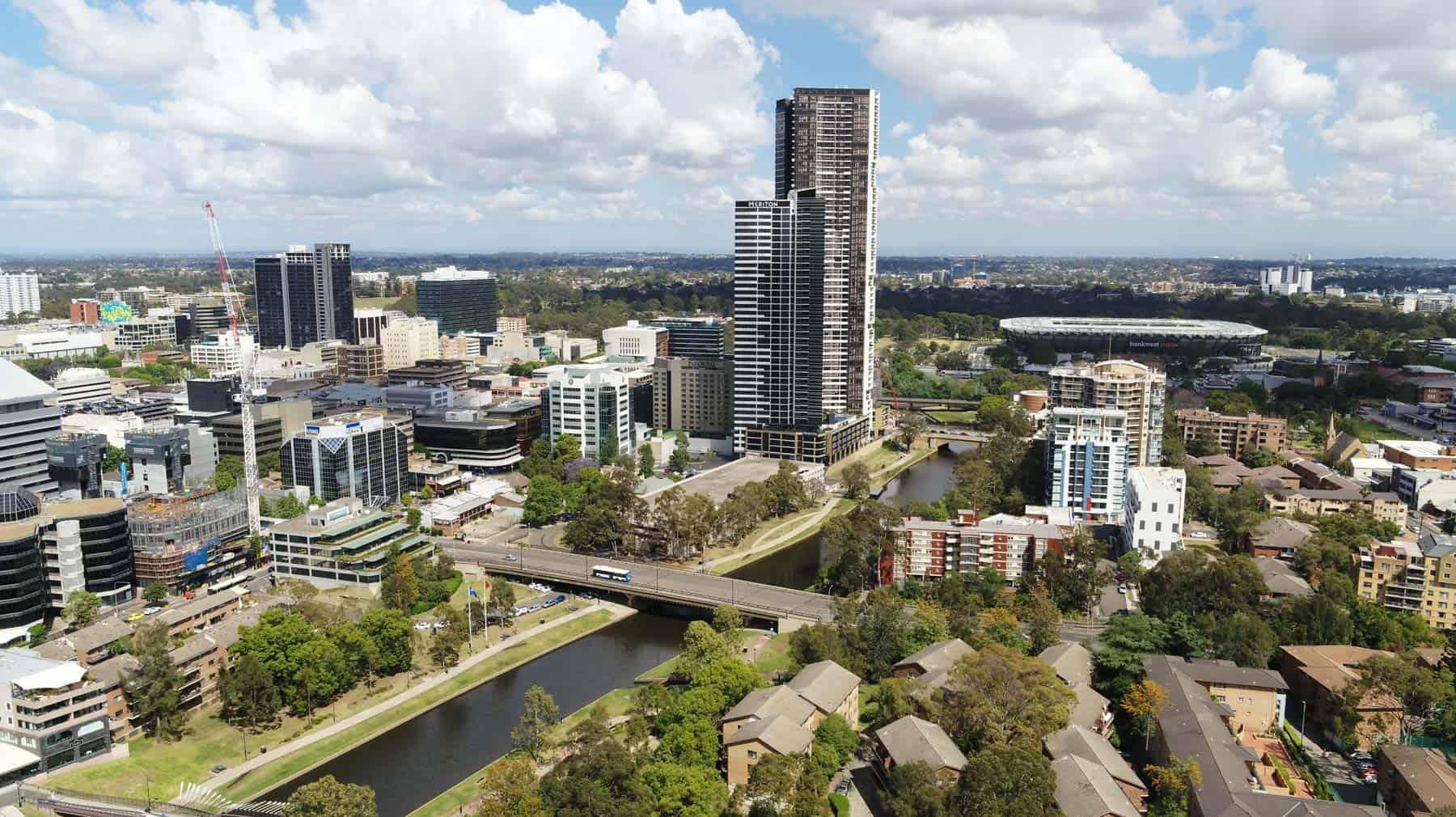 Aerial Photography Parramatta Skyline